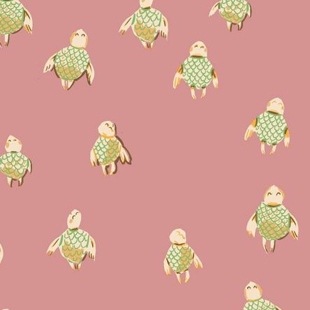 Windham Fabrics Malibu by Heather Ross Sea Turtles Rose