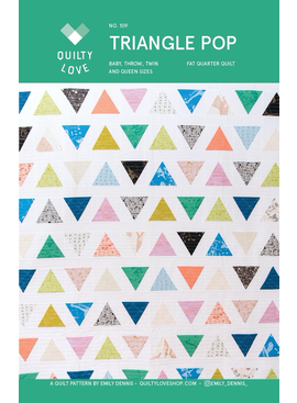 Quilty Love Triangle Pop Quilt Pattern by Quilty Love