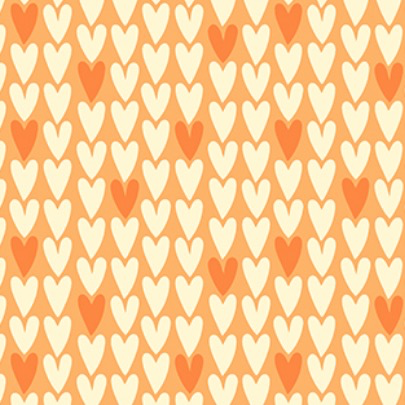 Squeeze by Dana Willard Hearts Orange