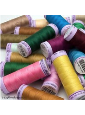 164 yards -50 Weight Great for Quilting, Machine embroidery or General Sewing Fuschia METTLER COTTON Silk Finished Thread .