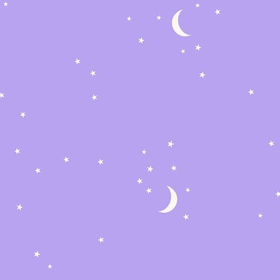 Andover Moon and Stars Purple by Andover Fabrics