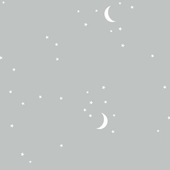 Andover Moon and Stars Gray by Andover Fabrics