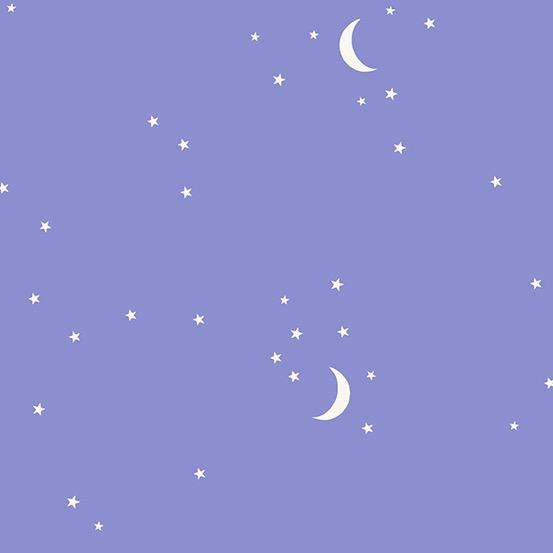 Andover Moon and Stars Periwinkle by Andover Fabrics