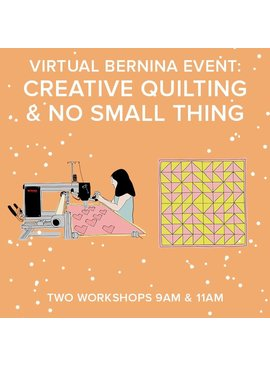 Lane Hunter Both Virtual Longarm Event: Both CREATIVE QUILTING & NO SMALL THING events Sitdown Free Motion & Longarm Qmatic Events – Saturday, March 6th 9-10am AND 11am-12pm PT