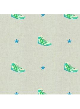 Cotton + Steel Kicks by Melody Miller: Little Kicks Aqua