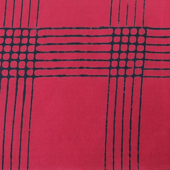 Andover Chroma by Alison Glass - Plaid Cherry
