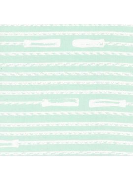 Hoffman Fabrics Double Dutch Jump Ropes by Latifah Saafir Studios - Mint