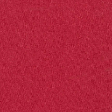 Robert Kaufman Essex Solid Crimson