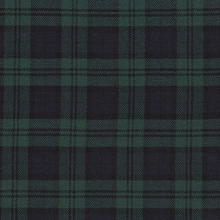 Robert Kaufman Sevenberry Classic Twill Plaid Hunter