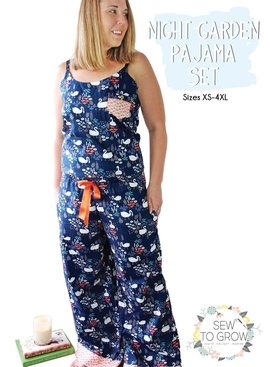 Moda Sew To Grow Night Garden Pajama Set