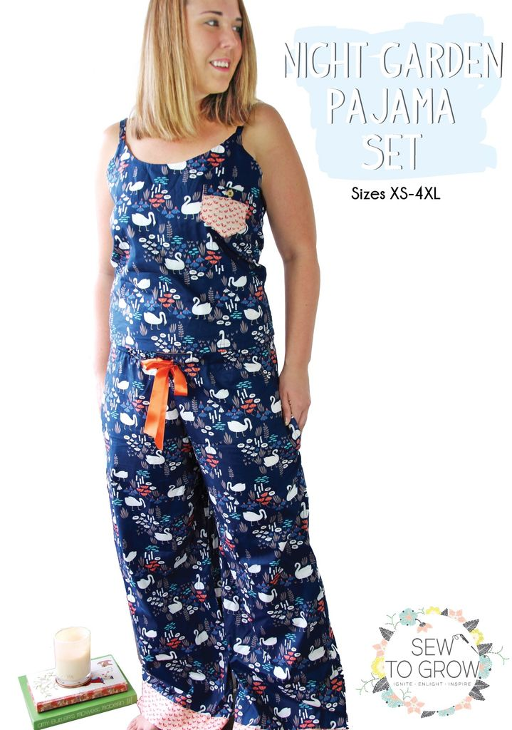 93ffe97c75 Moda Sew To Grow Night Garden Pajama Set - Modern Domestic