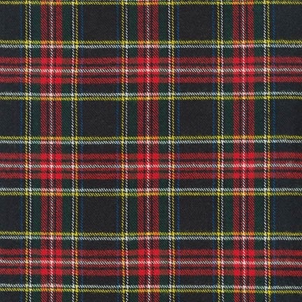 Robert Kaufman Highlander Flannel Black