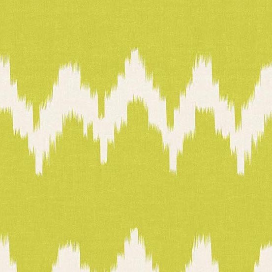 Andover Technicolor - Dream Weaves Lime Zig Zag