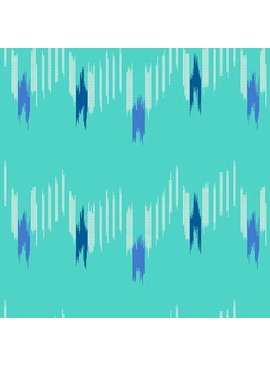 Andover Technicolor - Dream Weaves Teal Graph