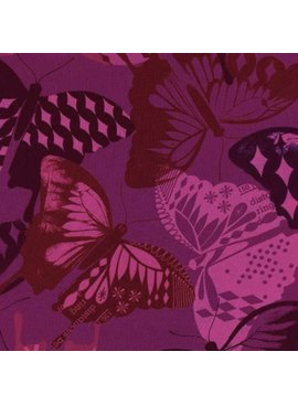 Cotton + Steel Flutter by Melody Miller, Flutter Fuschia Rayon