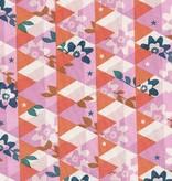 Cotton + Steel Flutter by Melody Miller, Kaleidescope, Orange, Unbleached Cotton
