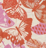 Cotton + Steel Flutter by Melody Miller, Flutter Orange, Unbleached cotton Fabric