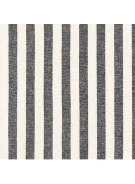 Robert Kaufman Essex Yarn Dyed Classic Wovens Black Stripe