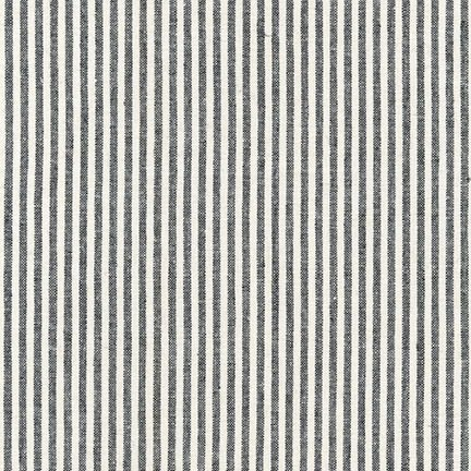 Robert Kaufman Essex Yarn Dyed Classic Wovens <br /> Black Stripe