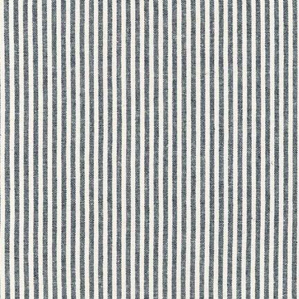 Robert Kaufman Essex Yarn Dyed Classic Wovens <br /> Indigo Stripe