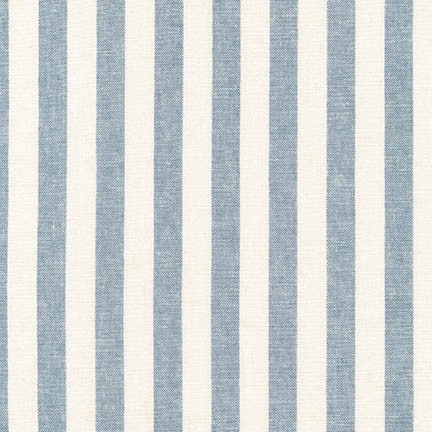 Robert Kaufman Essex Yarn Dyed Classic Wovens Chambray Stripe