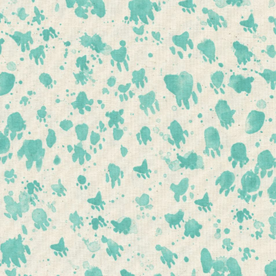 Cotton + Steel Santa Fe by Sarah Watts Coyote Tracks Turquoise