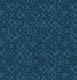 Cotton + Steel Poolside by Cotton + Steel: Architectural Blocks Blue
