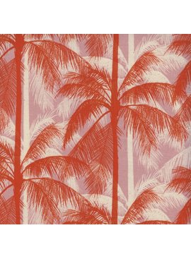 Cotton + Steel Poolside by Cotton + Steel: Palms Peach