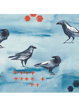 Monaluna Fabric Journey by Monaluna: Blackbird Poplin