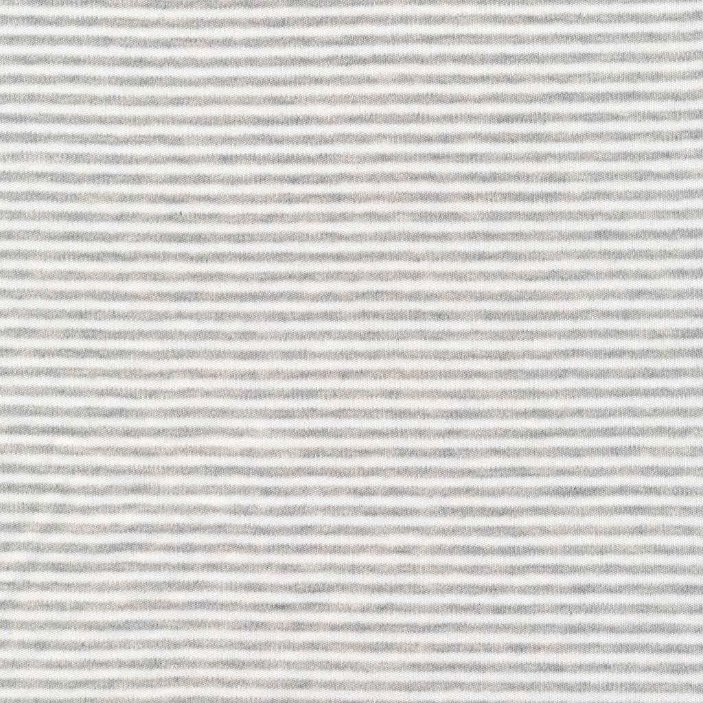 Cloud9 Organic Cotton Knit Thin Stripe - Heather Gray