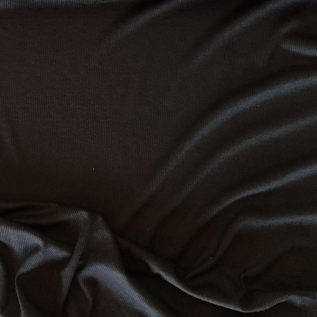 S. Rimmon & Co. Rayon/Lycra Ribbed Knit Black