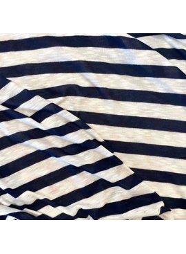S. Rimmon & Co. Lightweight Sweater Knit Rayon Navy/Cream