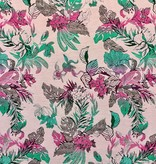 S. Rimmon & Co. Jacquard Tropical Tapestry Pink/Green