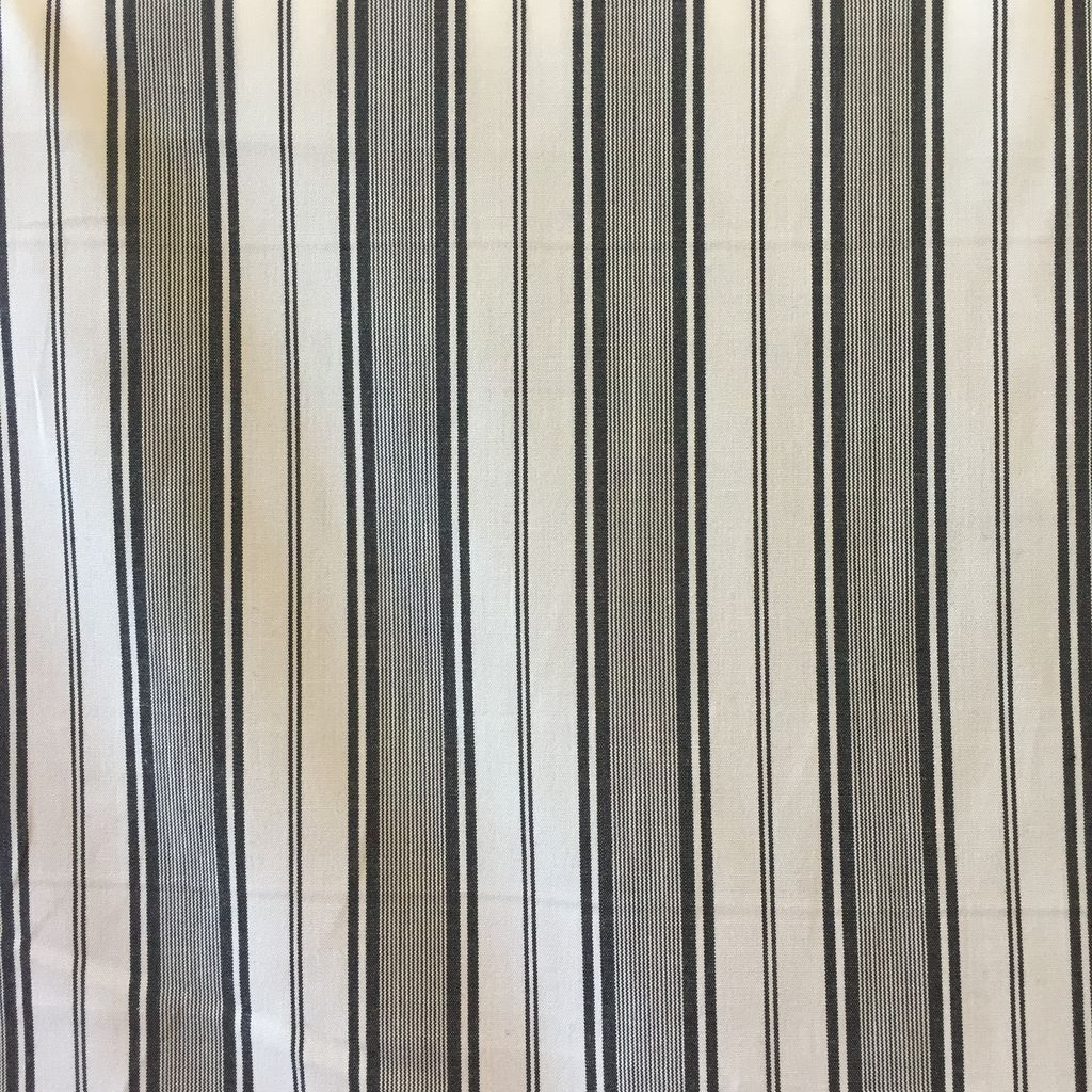 S. Rimmon & Co. Cotton Verigated Stripe Cream/Black