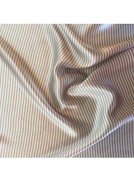 S. Rimmon & Co. Stripe Silk Charmeuse Cream/Grey