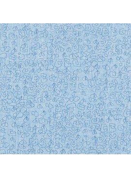 Robert Kaufman Polk by Carolyn Friedlander Paris Blue