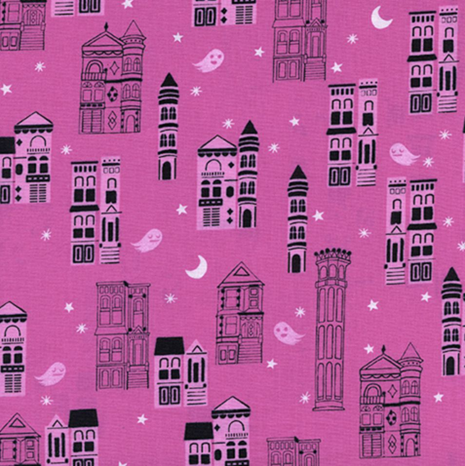 Cotton + Steel Eclipse by Cotton + Steel Haunted City Pink