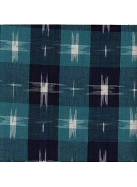 Textile Creations Dakota Ikat Blue Plaid
