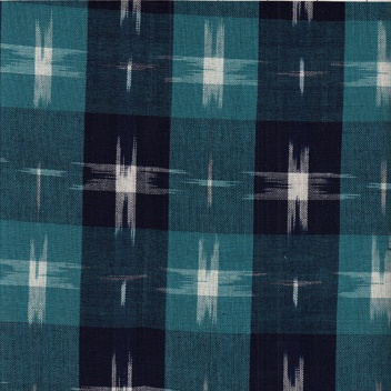 Textile Creations Dakota Ikat Blue Plaid