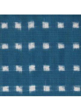 Textile Creations Dakota Ikat Seafoam White Squares