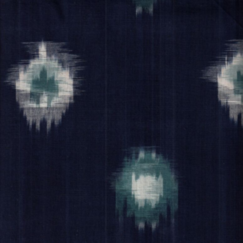 Textile Creations Dakota Ikat Tie Dye Blue