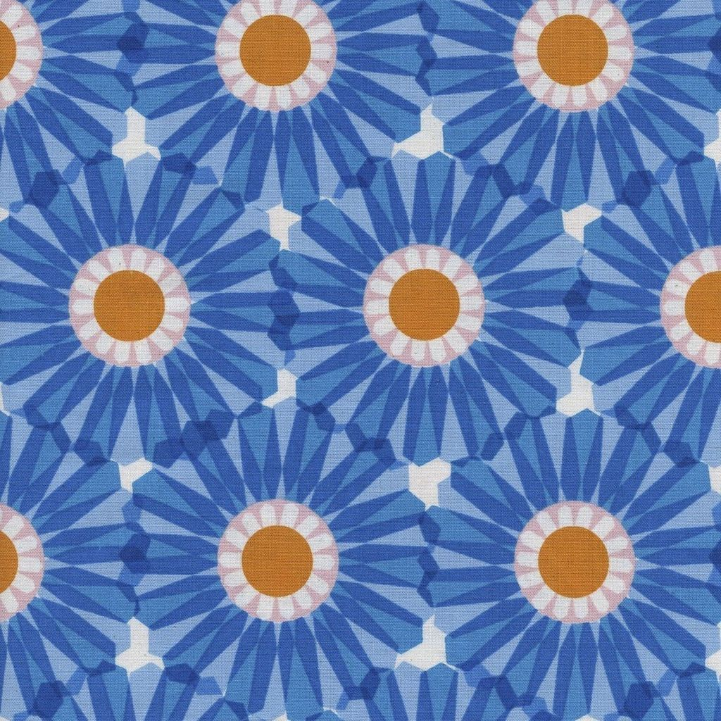 Cotton + Steel Freshly Picked by Cotton + Steel Dahlia Blue