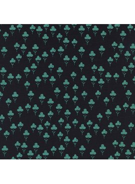 Cotton + Steel Front Yard by Sarah Watts Clovers Teal