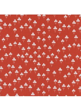 Cotton + Steel Front Yard by Sarah Watts Clovers Red