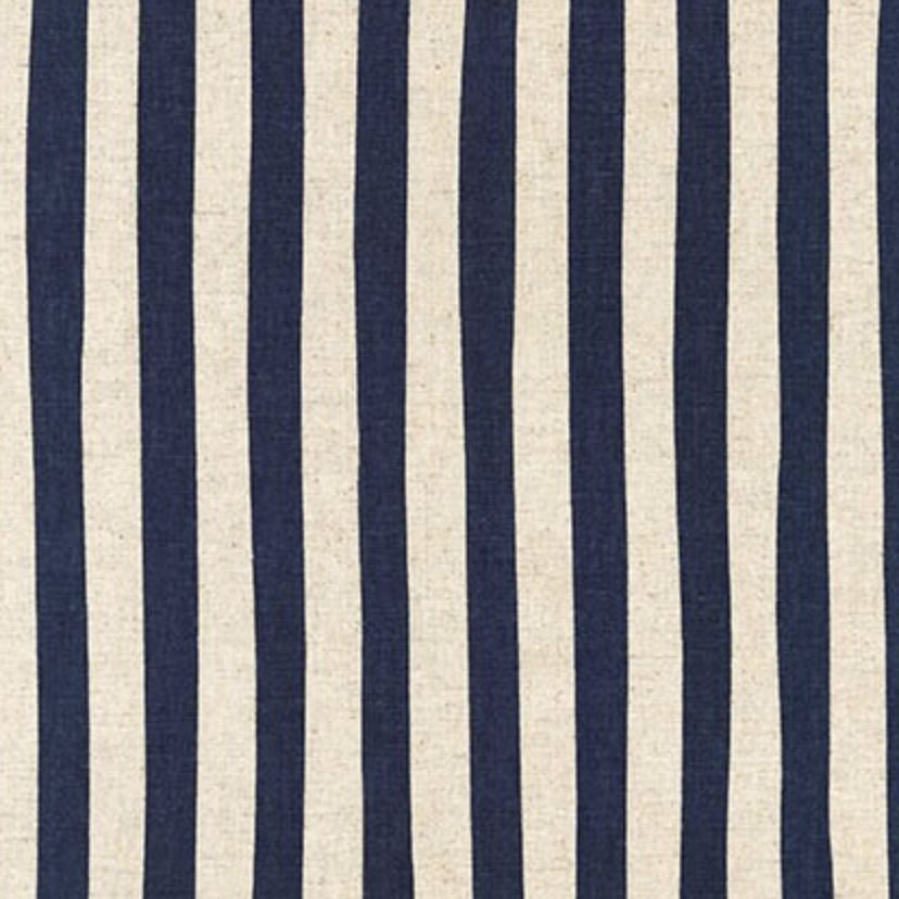 Robert Kaufman Sevenberry Canvas Natural Stripe Navy