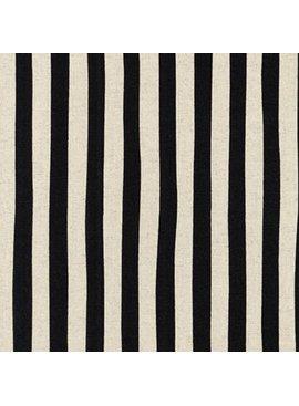 Robert Kaufman Sevenberry Canvas Natural Stripe Black