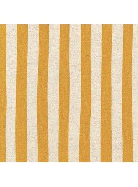 Robert Kaufman Sevenberry Canvas Natural Stripe Gold
