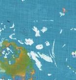 EE Schenck Nani Iro Linen Canvas: Encounter Turquoise 100% Linen