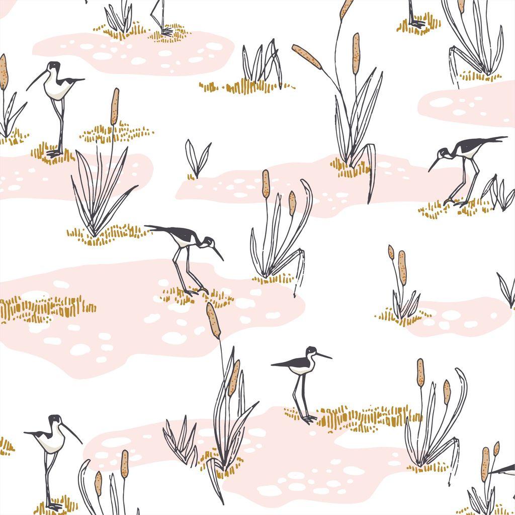 Cloud 9 Terrestrial by Sarah Watson Wetlands Pink