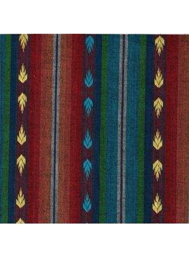 Textile Creations Arrowhead Dobby Flame Teal Rust Green